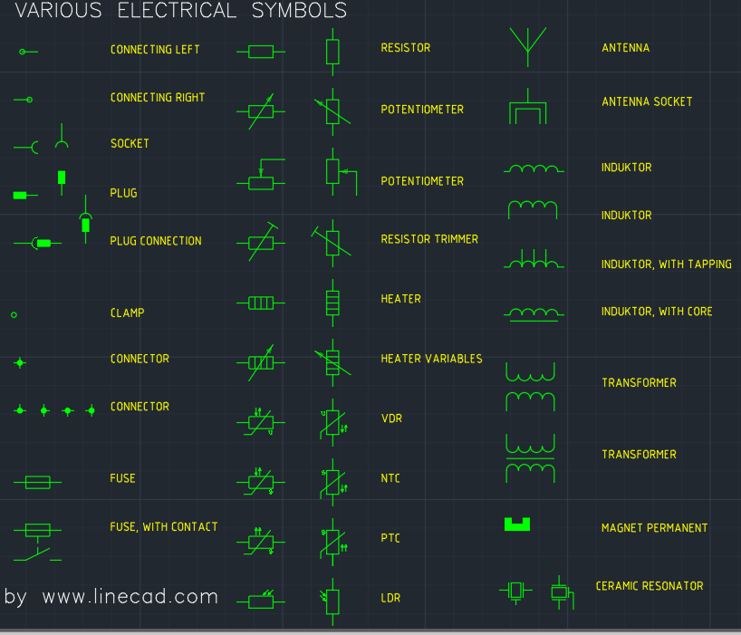 Cad Electrical Symbols     Free CAD Block And AutoCAD Drawing