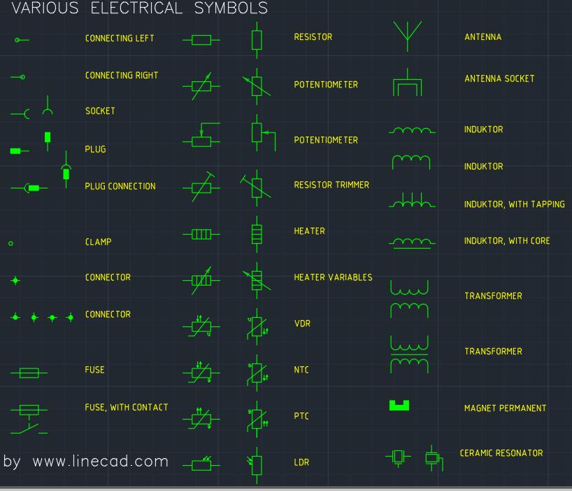 cad electrical symbols ndash AutoCAD Free CAD Block Symbols