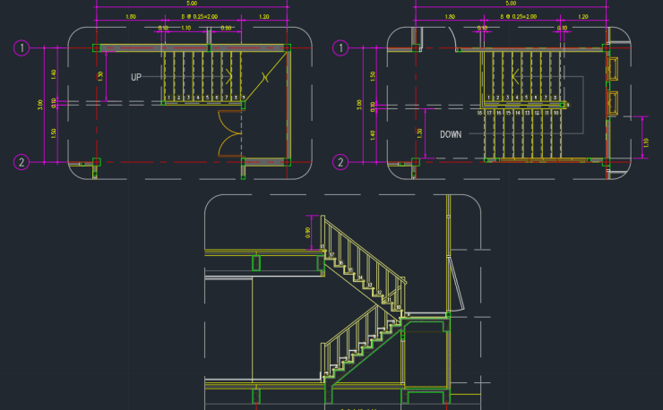 Spiral Stairs Cad Blocks Cad Block And Typical Drawing