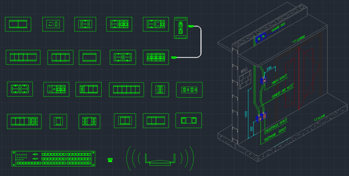 Sockets Switches Cad Blocks Cad Block And Typical