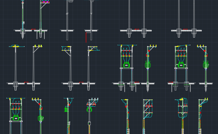 Transformer Installation Cad Block And Typical Drawing