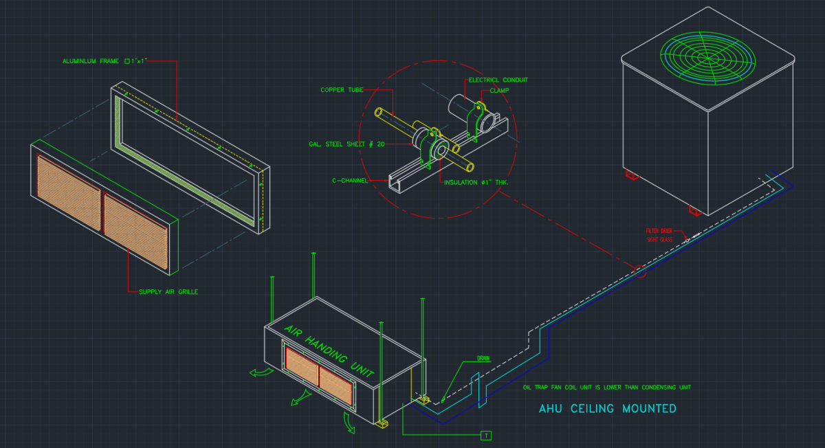 Air Handler Autocad Free Cad Block Symbol And Cad Drawing