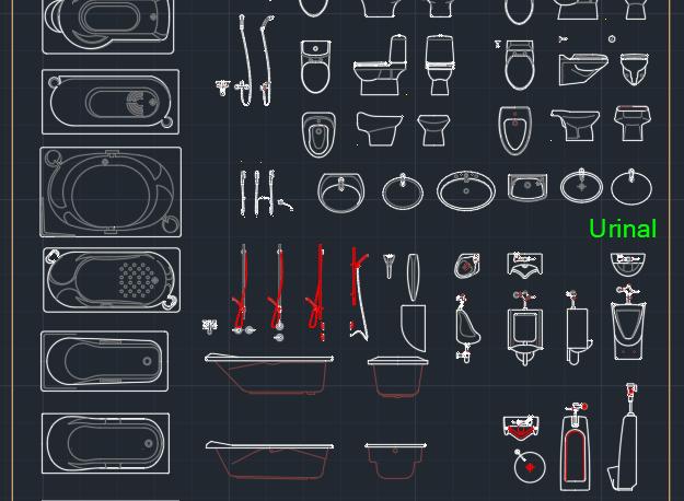 Urinal Free Cad Block Symbols And Cad Drawing