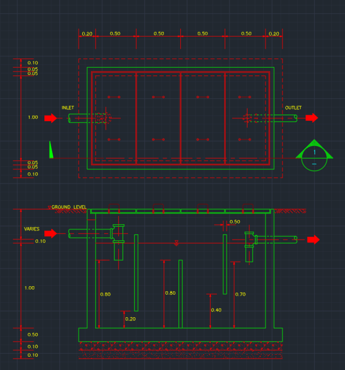 Grease Trap Pit Autocad Free Cad Block Symbols And Cad