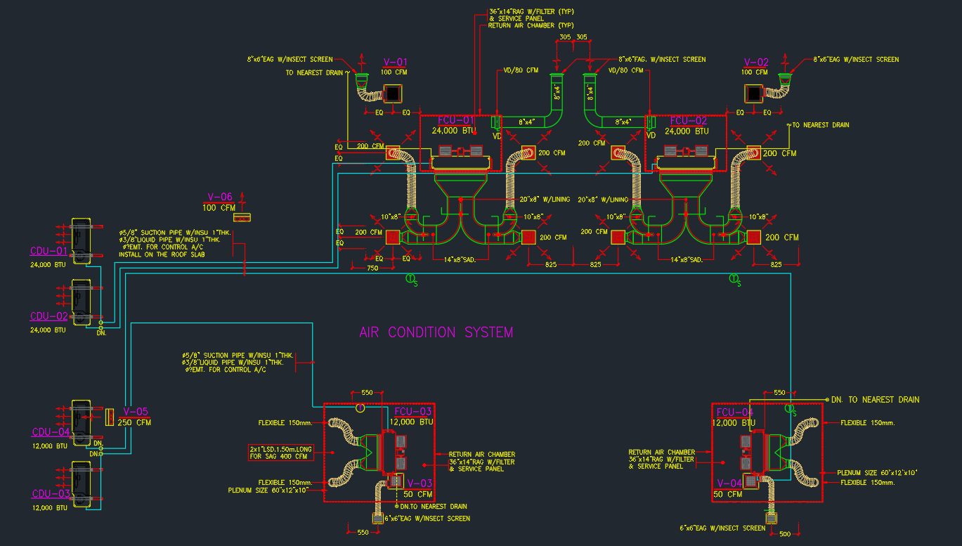 Hvac Duct Drawing Free Images Real Wiring Diagram
