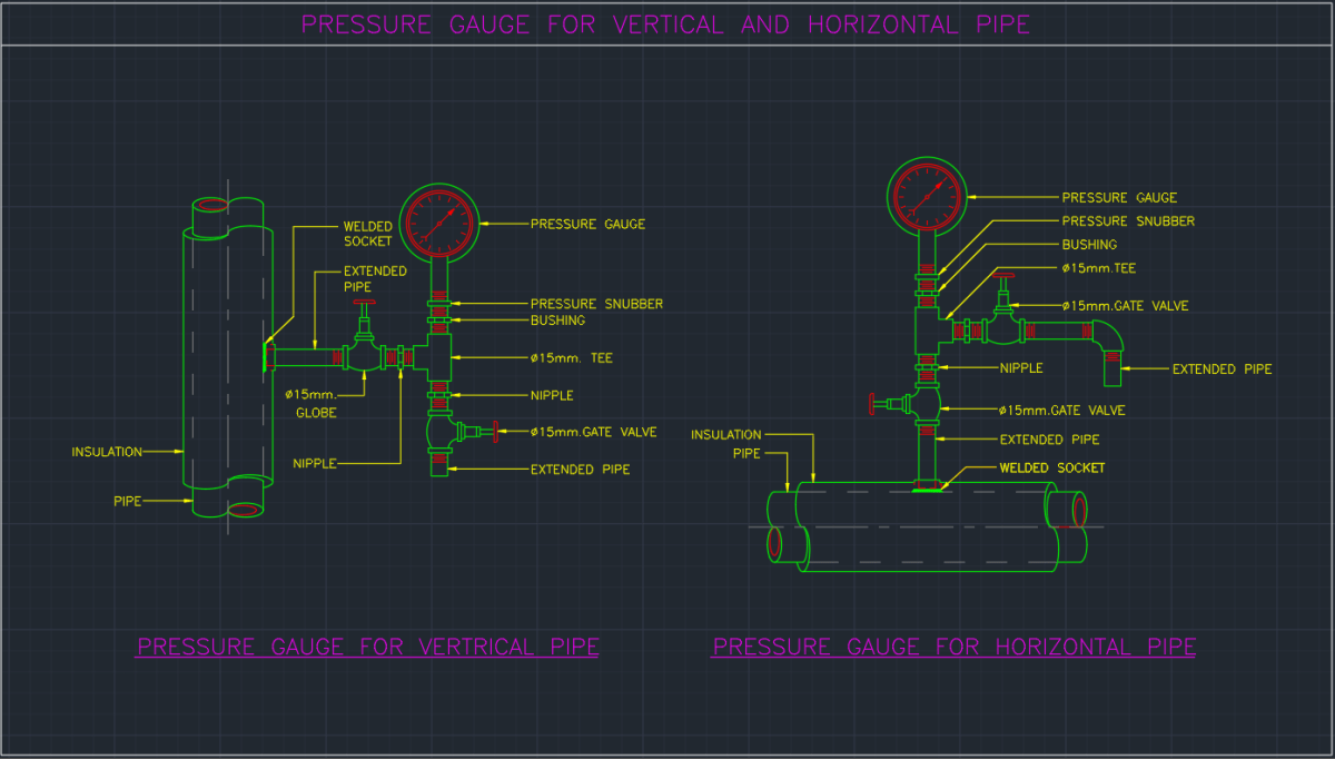 autocad hook up drawing