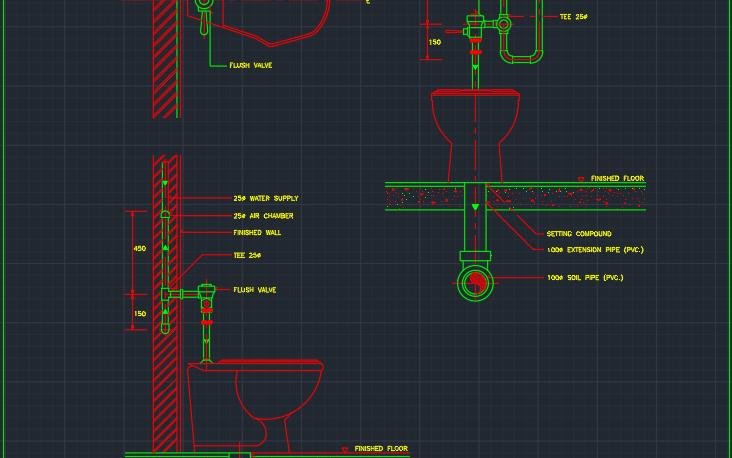 Toilet Autocad Free Cad Block Symbols And Cad Drawing