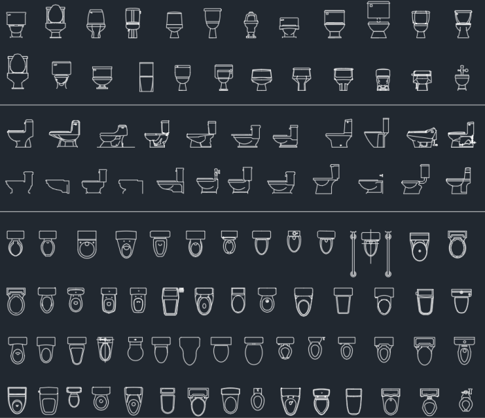 toilets | | CAD Block And Typical Drawing For Designers