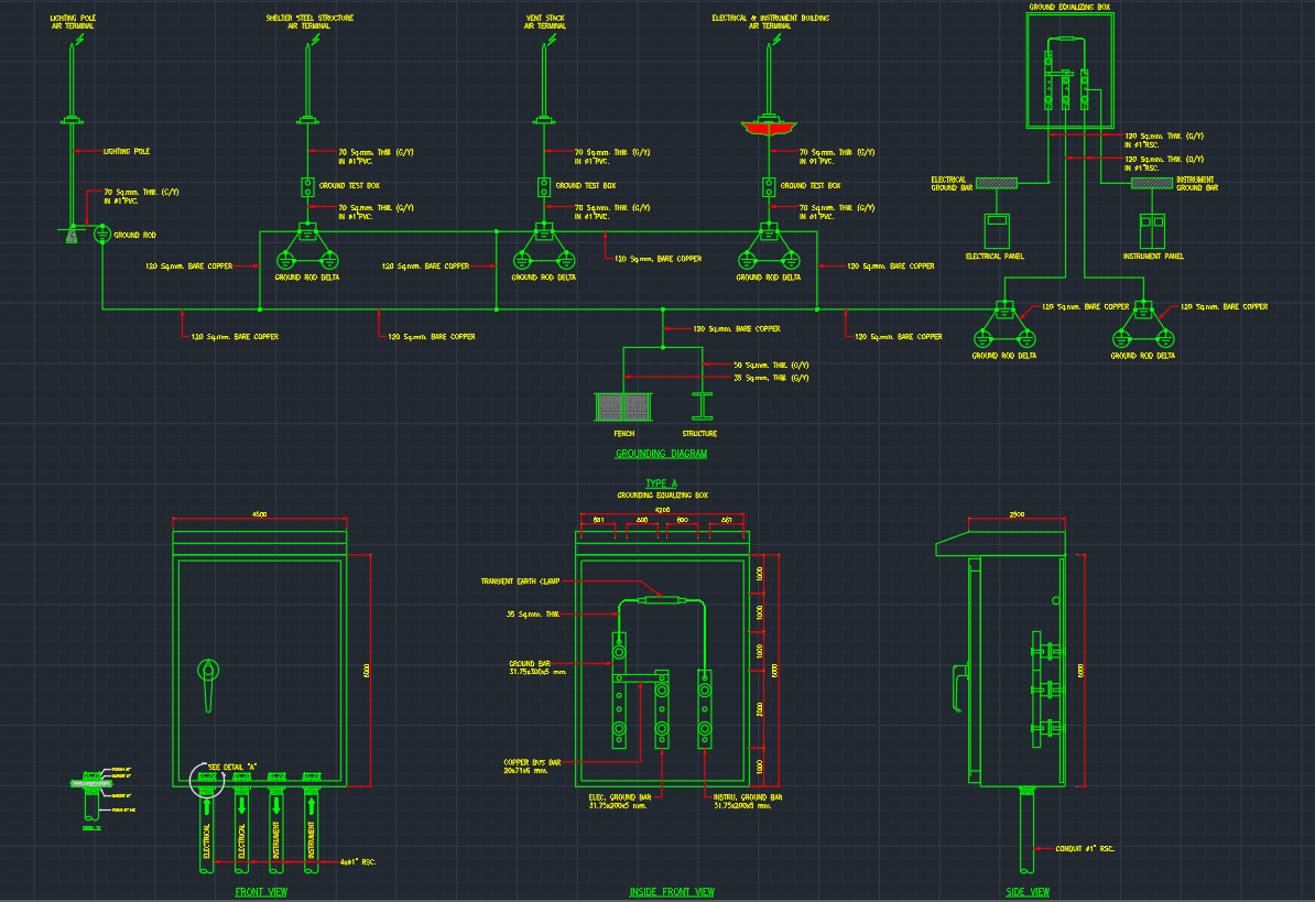 Ground Equalizing Cad Block And Typical Drawing For