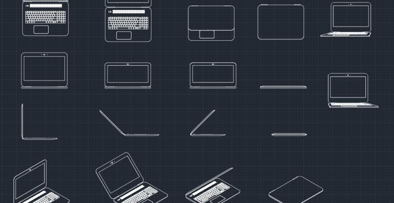 Laptops AutoCAD Free CAD Block Symbols And CAD Drawing