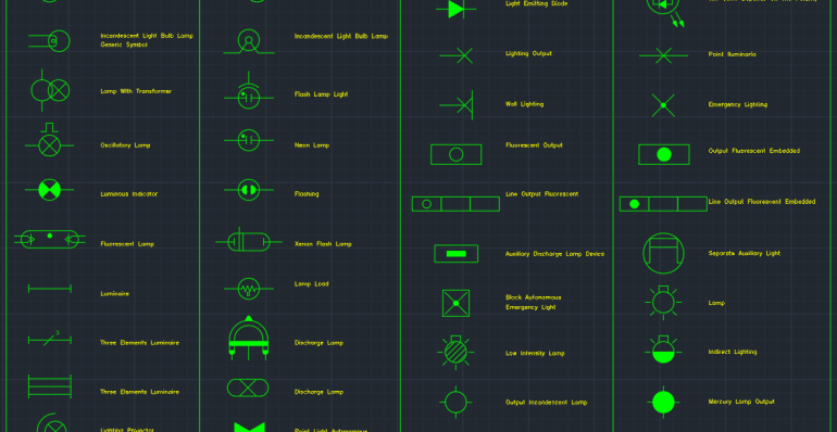 Electric Lighting Symbols Cad Block And Typical