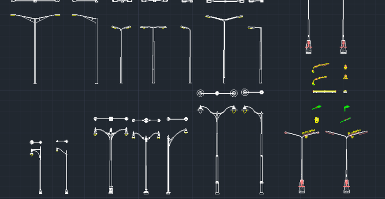 Street Lights Cad Block And Typical Drawing For Designers