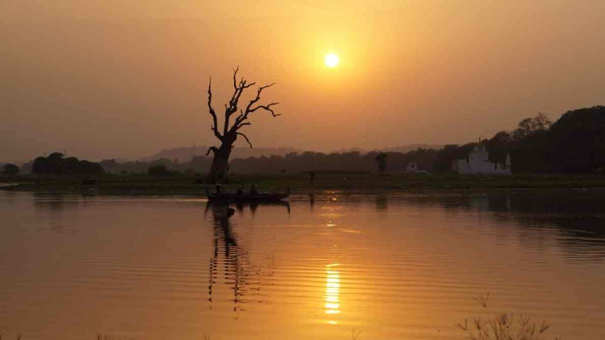 Zonsondergang Myanmar