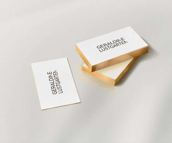 Fashion business cards design