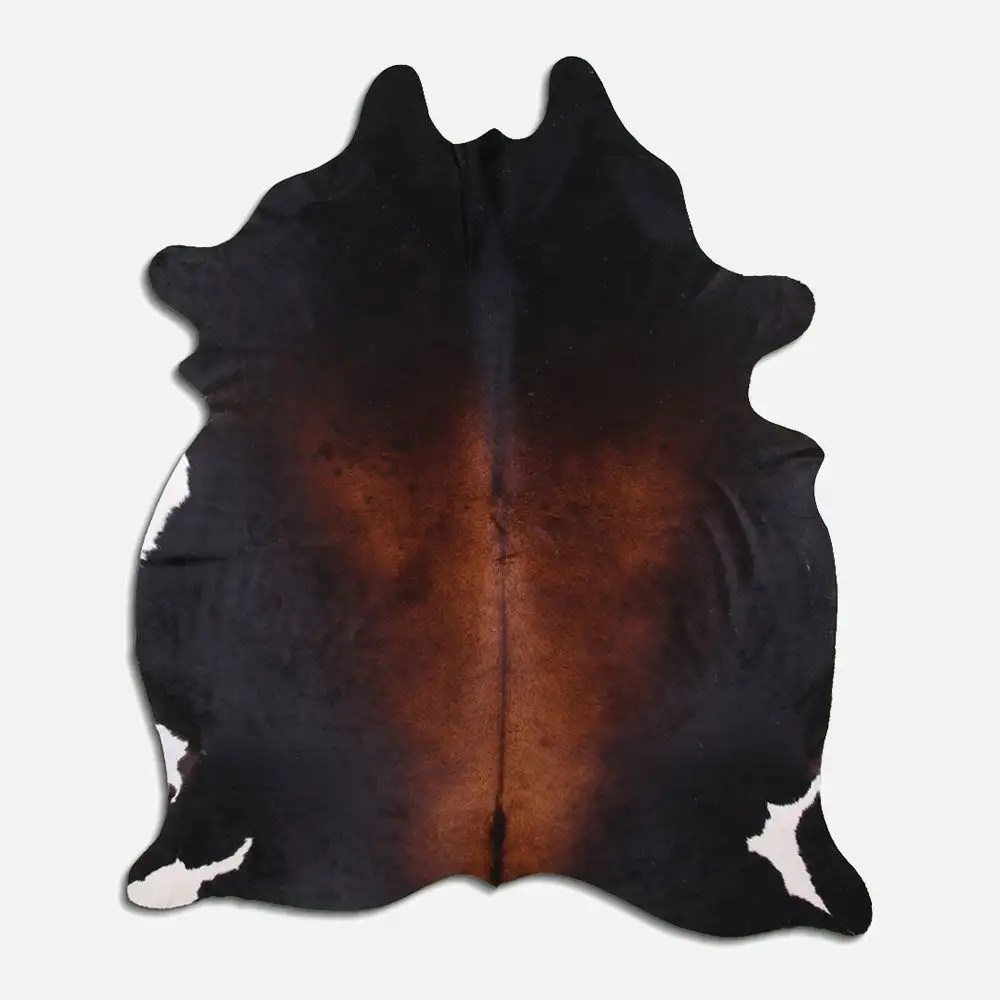 tapis peau de vache molly noir et brun