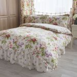 Maria Luxury Bedding Linen Quality Single Plum Bed Spreads With Shams Quilted Frilled Bed Sheet Spread With Shams 23 Deep Frill Drop Bedding Linens Bedspreads Coverlets