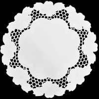 white rose round doily