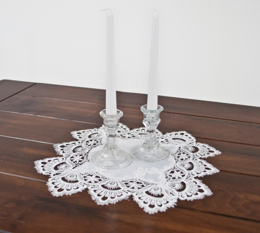 white european lace square doily