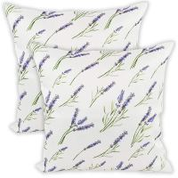 lavender floral throw pillows