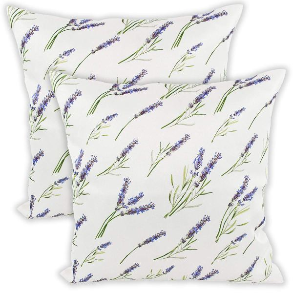 lavender floral throw pillows