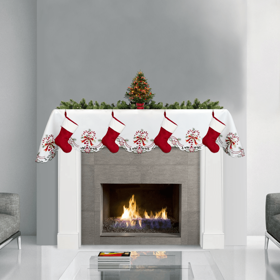 deck the home with holiday candy cane decor