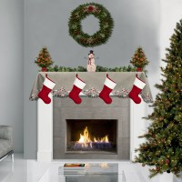stunning christmas fireplace mantle scarves