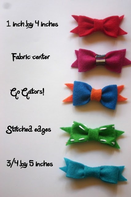 different styles of hair bows no sew felt bows lines across 9734