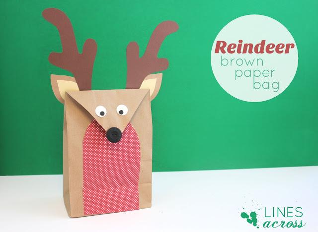 Reindeer Brown Paper Bag