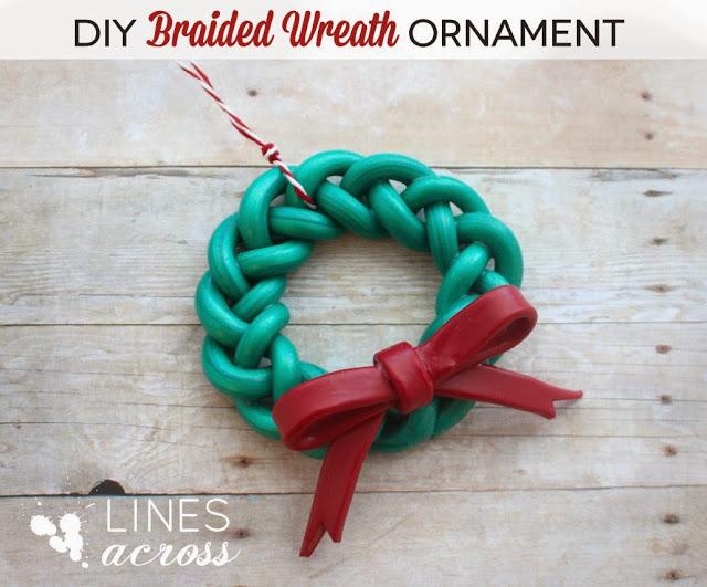 Handmade Braided Wreath Ornament