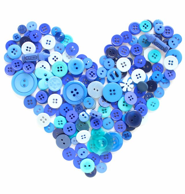1 - button heart #lacolorstudies