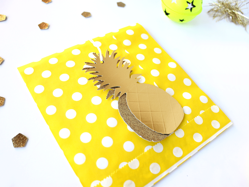 Gold Pineapple Gift Tags 4
