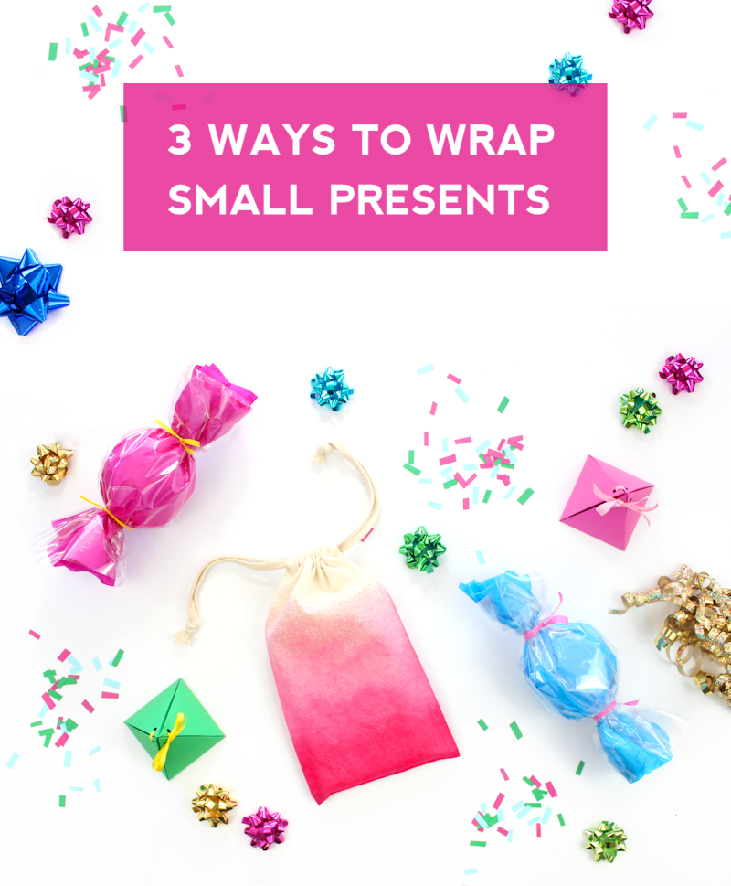 3 Ways to wrap small presents