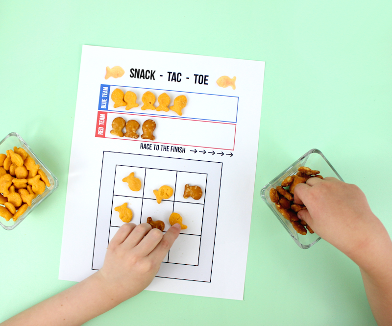 Tic Tac Toe - Free Printable Game for snack time