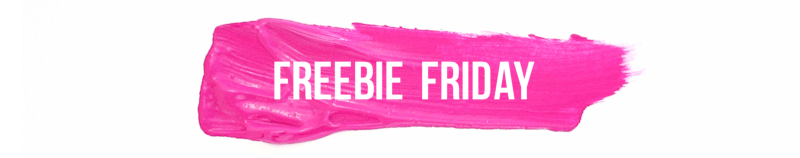 Freebie Friday - paint streak