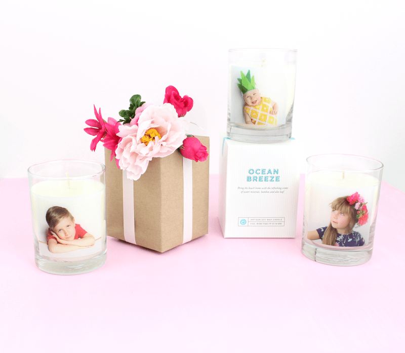 Personalized candles -Shutterfly - Mother's Day