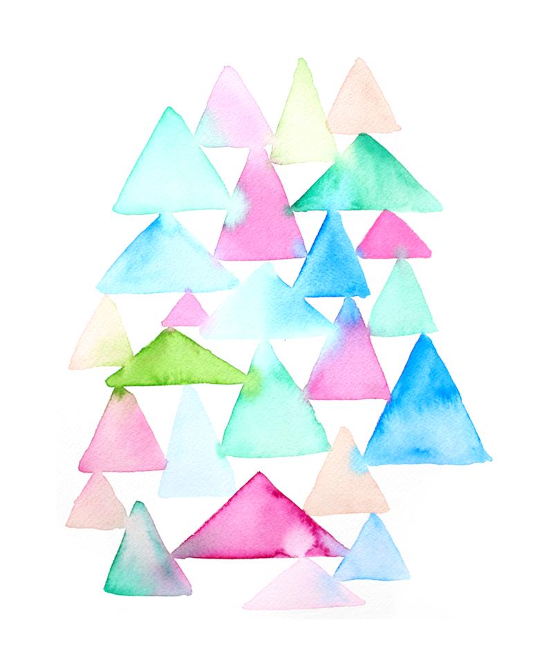 watercolor triangles 2
