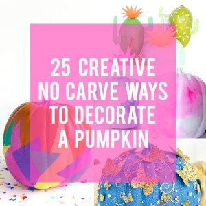 25 No Carve Pumpkin Decorating Ideas
