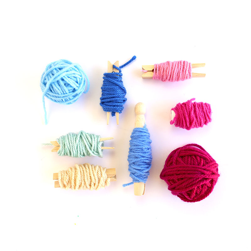 collection of yarn