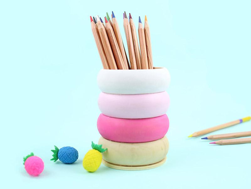DIY Wooden Pencil Cup