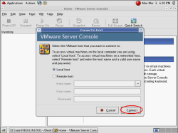 Connect to VMWare Server on localhost