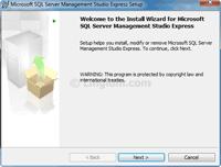 Microsoft SQL Server Management Studio Express Setup