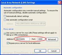 Configure ISA Server as proxy server