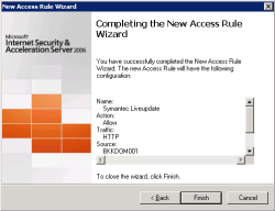 Finish create firewall rule