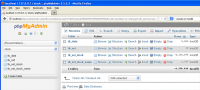 The Imported Tables on phpMyAdmin