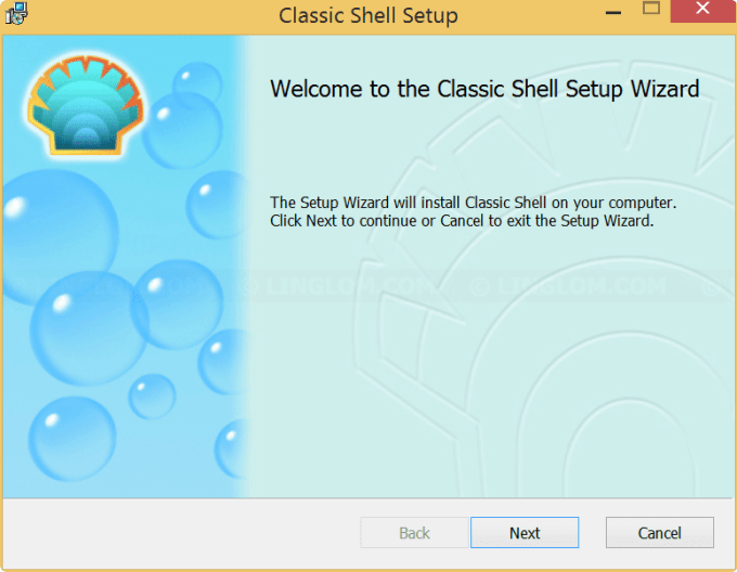 Welcome Setup Wizard - Classic Shell