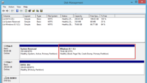 Partitions are merged on Disk Management