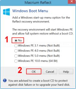 Remove Reflect recovery boot menu