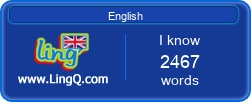 I Am Learning English online with LingQ.