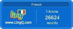 I Am Learning French online with LingQ.