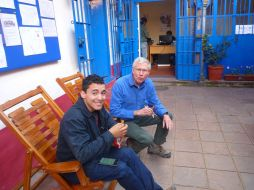 Patio at our Spanish school in Cusco